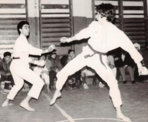 Karate 5 Romania 1984 training with Catalin Neagu
